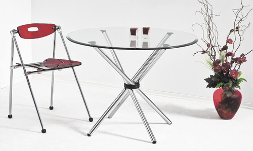 """Выставочное оборудование: Стеклянный стол """"Круглый"""""""